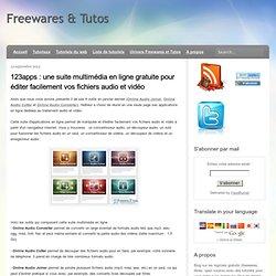 123apps : une suite multimédia en ligne gratuite pour éditer facilement vos fichiers audio et vidéo