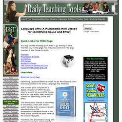 Language Arts: A Multimedia Mini Lesson for Identifying Cause and Effect