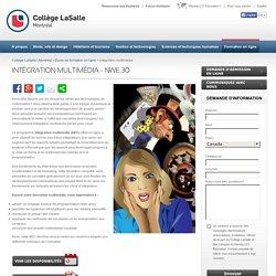 Formation Multimédia - Intégration Multimédia - En Ligne - Collège LaSalle Montreal