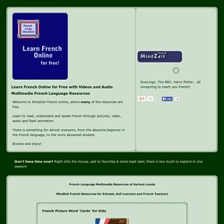 Learn French online with videos and audio Free French Resources
