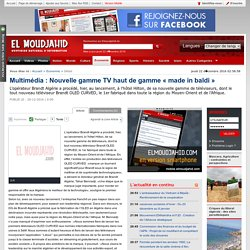 Multimédia : Nouvelle gamme TV haut de gamme « made in baldi »