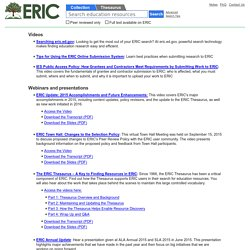ERIC outreach for ed tech action research