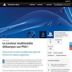Le Lecteur multimédia débarque sur PS4 ! - PlayStation Blog en français