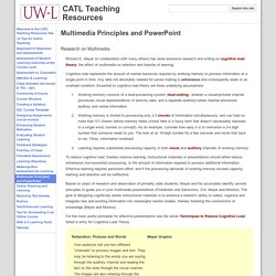 Multimedia Principles and PowerPoint - CATL Teaching Resources