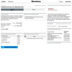2L Multimedia SAS: Private Company Information