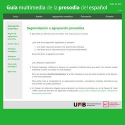 Guía multimedia de la prosodia del español