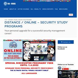 Online Multimedia Security Study Programs - ISA Israel