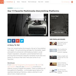 Our 11 favorite multimedia storytelling platforms