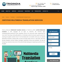 Key Traits to Look for Multimedia Translation in Canada