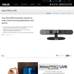 Multimedia- ASUS Xtion PRO LIVE