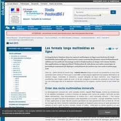 Les formats longs multimédias en ligne — Enseigner avec le numérique — Éduscol numérique