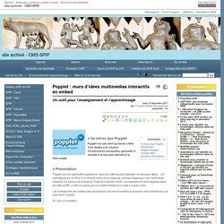 Popplet : murs d'idées multimédias interactifs en embed - site archivé
