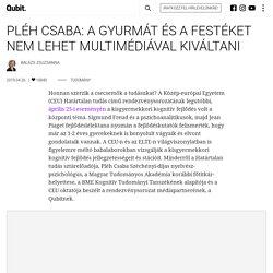 Pléh Csaba: A gyurmát és a festéket nem lehet multimédiával kiváltani