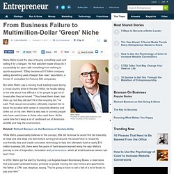 From Business Failure to Multimillion-Dollar 'Green' Niche
