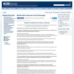 Multimodal Literacies and Technology