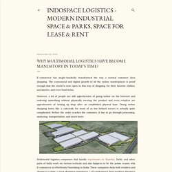 Why multimodal logistics have become mandatory in today's time?