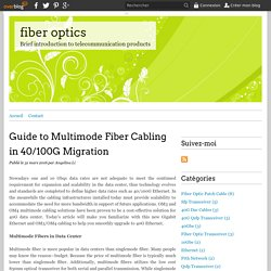 Guide to Multimode Fiber Cabling in 40/100G Migration - fiber optics