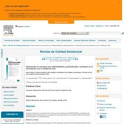 Intervención en ancianos con multimorbilidad y polimedicados: resultados en la prescripción y en la calidad de vida