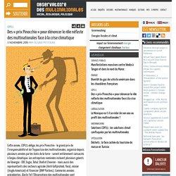 Des « prix Pinocchio » pour dénoncer le rôle néfaste des multinationales face à la crise climatique