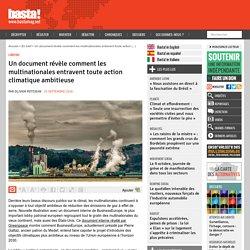 Un document révèle comment les multinationales entravent toute action climatique ambitieuse
