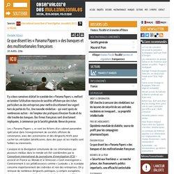 Ce que disent les « Panama Papers » des banques et des multinationales françaises
