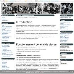 Gestion classes multiniveaux - Enseigner en élémentaire