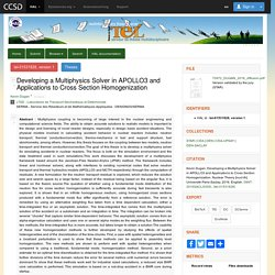 Developing a Multiphysics Solver in APOLLO3 and Applications to Cross Section Homogenization - TEL - Thèses en ligne