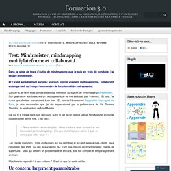 Test: Mindmeister, mindmapping multiplateforme et collaboratif