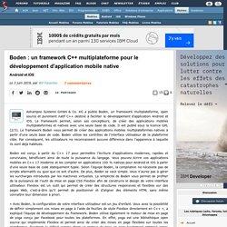 Boden : un framework C++ multiplateforme pour le développement d'application mobile native, Android et iOS