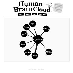 Human Brain Cloud. A massively multiplayer word association game.