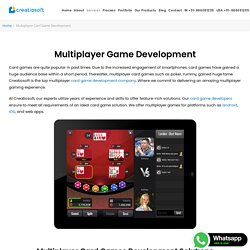 Multiplayer Card Game Development - Creatiosoft Solutions Private Limited