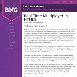 Real Time Multiplayer in HTML5