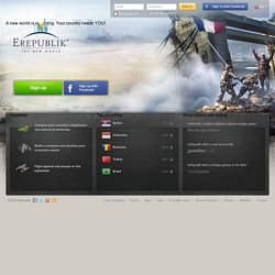 Strategy Game – Free Online Multiplayer Strategy Games | eRepublik