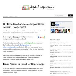 Setup Multiple Email Addresses for one Gmail Account [Google Apps]