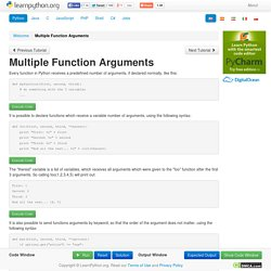 Multiple Function Arguments - Learn Python - Free Interactive Python Tutorial