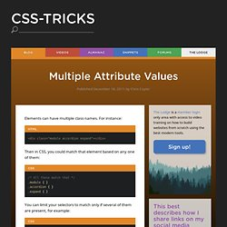 Multiple Attribute Values