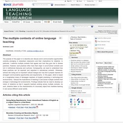 The multiple contexts of online language teaching