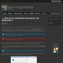Multiple DropBox Instances on Windows 7