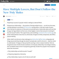 Polyamorous dating rules