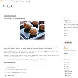 Macarons: recette détaillée