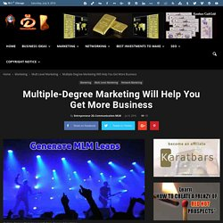 Multiple-Degree Marketing Will Help You Get More Business