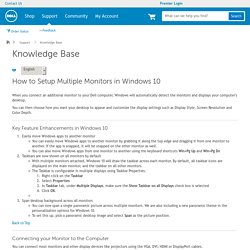 How to Setup Multiple Monitors in Windows 10