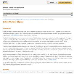 Delete Multiple Objects - Amazon Simple Storage Service