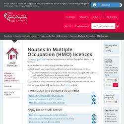 Houses in Multiple Occupation (HMO) licences - London Borough of Barking and Dagenham Council