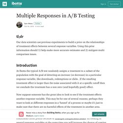 Multiple Responses in A/B Testing – Building Ibotta
