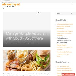 Manage Multiple Restaurant with Cloud POS Software