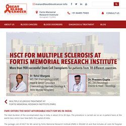 Cost of Multiple Sclerosis Treatment in India at FMRI
