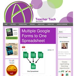 Multiple Google Forms to One Spreadsheet