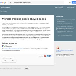 Multiple tracking codes on web pages - Analytics Help