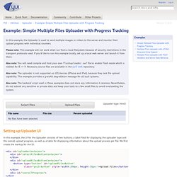 Simple Multiple Files Uploader with Progress Tracking